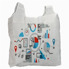 Science Mathematics Formula Recycle Bag (one Side) by Mariart