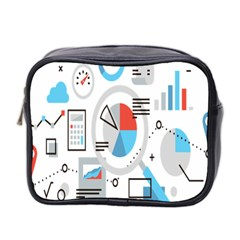 Science Mathematics Formula Mini Toiletries Bag 2 Side by Mariart