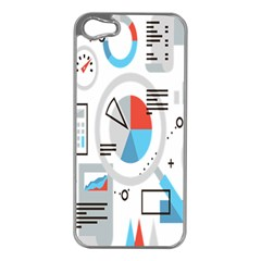 Science Mathematics Formula Apple Iphone 5 Case (silver) by Mariart