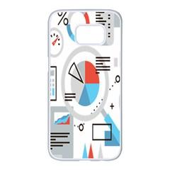 Science Mathematics Formula Samsung Galaxy S7 Edge White Seamless Case by Mariart