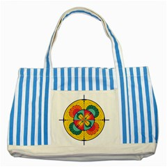 Color Scope Striped Blue Tote Bag by linceazul