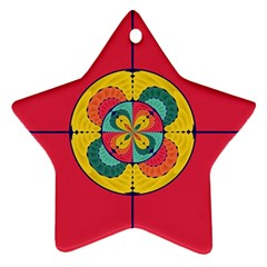 Color Scope Star Ornament (two Sides) by linceazul