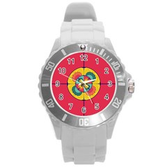 Color Scope Round Plastic Sport Watch (l) by linceazul
