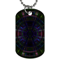 Psychic Color Circle Abstract Dark Rainbow Pattern Wallpaper Dog Tag (one Side) by Mariart