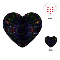 Psychic Color Circle Abstract Dark Rainbow Pattern Wallpaper Playing Cards (heart)  by Mariart