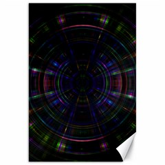 Psychic Color Circle Abstract Dark Rainbow Pattern Wallpaper Canvas 20  X 30   by Mariart