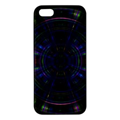 Psychic Color Circle Abstract Dark Rainbow Pattern Wallpaper Iphone 5s/ Se Premium Hardshell Case by Mariart