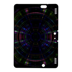Psychic Color Circle Abstract Dark Rainbow Pattern Wallpaper Kindle Fire Hdx 8 9  Hardshell Case by Mariart