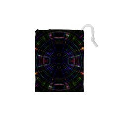 Psychic Color Circle Abstract Dark Rainbow Pattern Wallpaper Drawstring Pouches (xs)  by Mariart