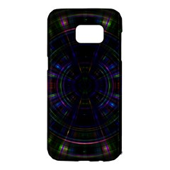 Psychic Color Circle Abstract Dark Rainbow Pattern Wallpaper Samsung Galaxy S7 Edge Hardshell Case by Mariart