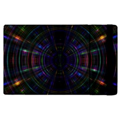 Psychic Color Circle Abstract Dark Rainbow Pattern Wallpaper Apple Ipad Pro 12 9   Flip Case by Mariart