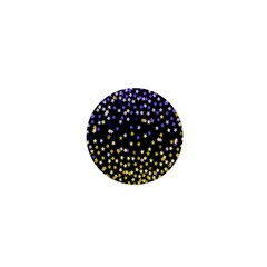 Space Star Light Gold Blue Beauty 1  Mini Magnets by Mariart
