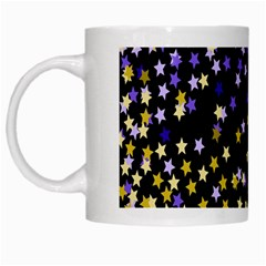 Space Star Light Gold Blue Beauty White Mugs by Mariart