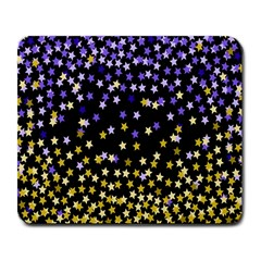 Space Star Light Gold Blue Beauty Large Mousepads by Mariart