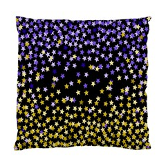 Space Star Light Gold Blue Beauty Standard Cushion Case (two Sides) by Mariart