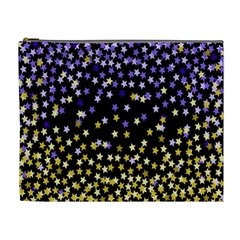 Space Star Light Gold Blue Beauty Cosmetic Bag (xl) by Mariart