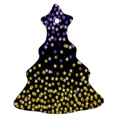 Space Star Light Gold Blue Beauty Ornament (christmas Tree)  by Mariart
