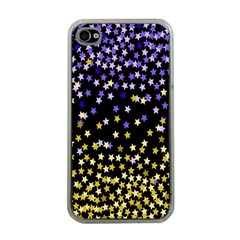 Space Star Light Gold Blue Beauty Apple Iphone 4 Case (clear) by Mariart