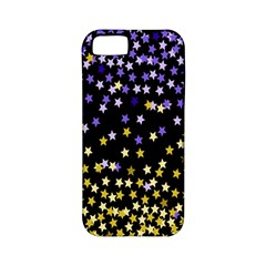 Space Star Light Gold Blue Beauty Apple Iphone 5 Classic Hardshell Case (pc+silicone) by Mariart