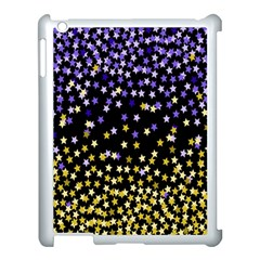 Space Star Light Gold Blue Beauty Apple Ipad 3/4 Case (white) by Mariart