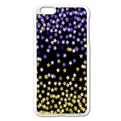 Space Star Light Gold Blue Beauty Apple Iphone 6 Plus/6s Plus Enamel White Case by Mariart