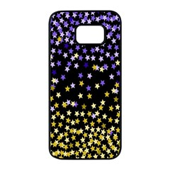 Space Star Light Gold Blue Beauty Samsung Galaxy S7 Edge Black Seamless Case by Mariart