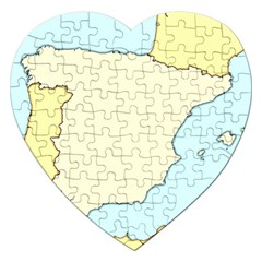 Spain Map Modern Jigsaw Puzzle (heart) by Mariart
