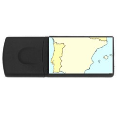 Spain Map Modern Rectangular Usb Flash Drive by Mariart