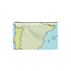Spain Map Modern Cosmetic Bag (small)  by Mariart