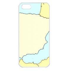 Spain Map Modern Apple Iphone 5 Seamless Case (white) by Mariart