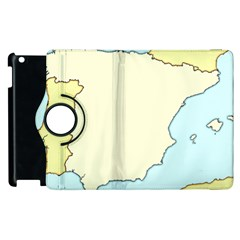 Spain Map Modern Apple Ipad 2 Flip 360 Case by Mariart