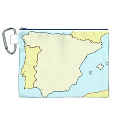 Spain Map Modern Canvas Cosmetic Bag (xl) by Mariart