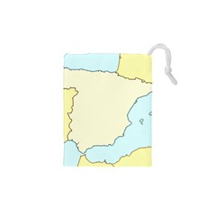 Spain Map Modern Drawstring Pouches (xs)  by Mariart