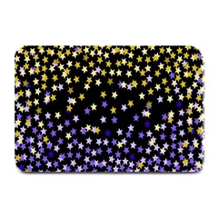 Space Star Light Gold Blue Beauty Black Plate Mats by Mariart