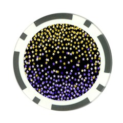 Space Star Light Gold Blue Beauty Black Poker Chip Card Guard by Mariart