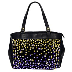 Space Star Light Gold Blue Beauty Black Office Handbags (2 Sides)  by Mariart
