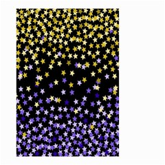 Space Star Light Gold Blue Beauty Black Small Garden Flag (two Sides) by Mariart