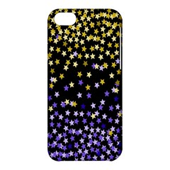 Space Star Light Gold Blue Beauty Black Apple Iphone 5c Hardshell Case by Mariart