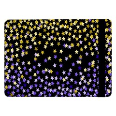 Space Star Light Gold Blue Beauty Black Samsung Galaxy Tab Pro 12 2  Flip Case by Mariart