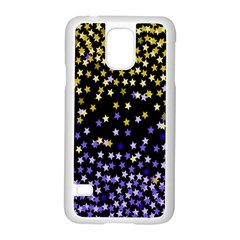 Space Star Light Gold Blue Beauty Black Samsung Galaxy S5 Case (white)