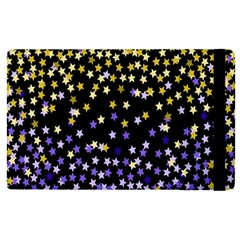 Space Star Light Gold Blue Beauty Black Apple Ipad Pro 9 7   Flip Case by Mariart
