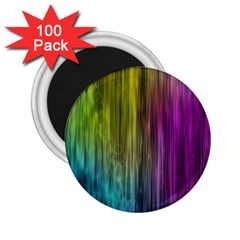 Rainbow Bubble Curtains Motion Background Space 2 25  Magnets (100 Pack)  by Mariart