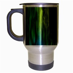 Rainbow Bubble Curtains Motion Background Space Travel Mug (silver Gray) by Mariart