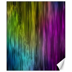 Rainbow Bubble Curtains Motion Background Space Canvas 20  X 24   by Mariart