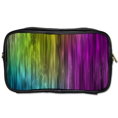 Rainbow Bubble Curtains Motion Background Space Toiletries Bags by Mariart
