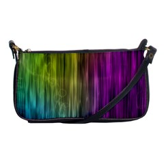 Rainbow Bubble Curtains Motion Background Space Shoulder Clutch Bags by Mariart