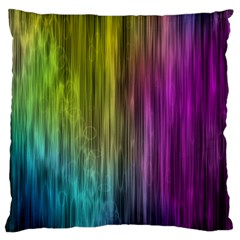 Rainbow Bubble Curtains Motion Background Space Large Cushion Case (two Sides) by Mariart