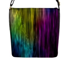 Rainbow Bubble Curtains Motion Background Space Flap Messenger Bag (l)  by Mariart