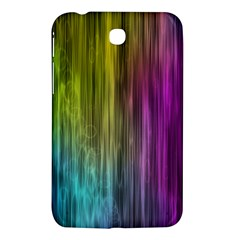 Rainbow Bubble Curtains Motion Background Space Samsung Galaxy Tab 3 (7 ) P3200 Hardshell Case  by Mariart