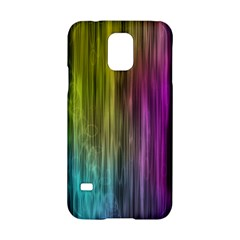 Rainbow Bubble Curtains Motion Background Space Samsung Galaxy S5 Hardshell Case  by Mariart